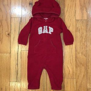 Baby Gap 3-6m Fleece Coverall with bear ears CUTE!